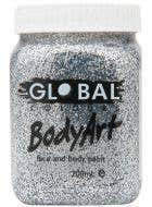 Silver Glitter 200ml Tub of Makeup