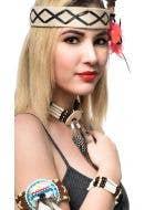Women's Beaded Native Indian Costume Jewellery Bracelet Image 1