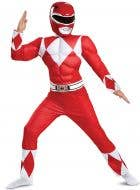 Red Power Ranger Classic Boys Costume - Front Image