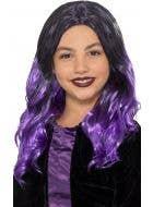 Witch Purple Girls Curly Halloween Costume Wig