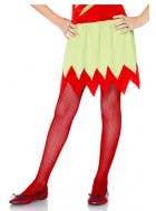 Girls Red Fishnet Halloween Costume Stockings