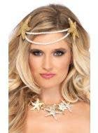 Mermaid Pearl Starfish Women's Headband Costume Accessory