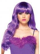 Long Purple Deluxe Women's Curly Costume Wig