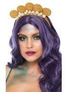 Pearl and Seashell Gold Mermaid Headband