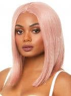 Concave Women's Rose Pink Tinsel Highlight Costume Wig