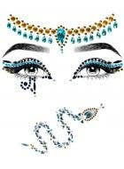 Egyptian Queen Cleopatra Self Adhesive Face and Hair Gems - Product Image