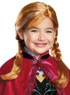 Disney Dress Up Girl's Officially Licensed Frozen Anna Costume Wig - Main Image