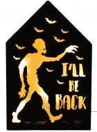 Ill Be Back Zombie Light Box Halloween Decoration