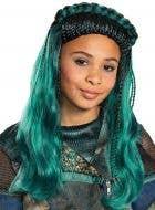 Descendants 3 Girls Deluxe Teal Uma Costume Wig