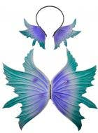 Fairy Wings and Headband Set in Purple and Green