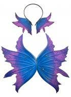 Deluxe Fairy Wings and Headpiece in Blue and Purple