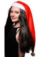 Extra Long Plush Christmas Santa Claus Costume Hat