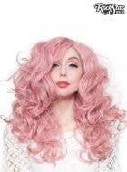 "Lace Front 22"" Curly Milkshake Pink Women's Fashion Wig"