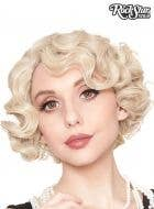 1920's Flapper Finger Waves Women's Blonde Costume Wig
