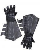 Adults Black Batman Costume Gloves