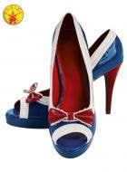Red White and Blue Cute Women's Sailor Costume Shoes