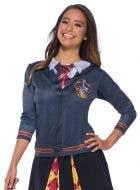 Teen Girl's Gryffindor Costume Shirt - Close Image