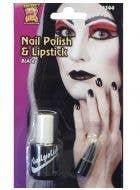 Halloween Black Nail Polish and Lip Stick