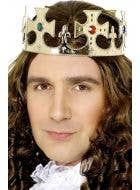 Royal Gold and Jewels Kings Crown Costume Accessory