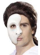 Simple White Plastic Phantom Over Eye Mask Main Image