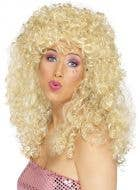 Blonde 1980's Long Permed Curls Costume Wig for Women