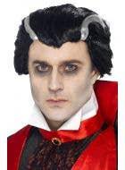 Classic Vampire Men's Halloween Costume Wig Main Image