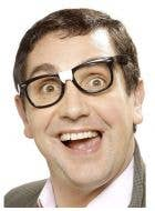 Black Geek Specs with Plaster