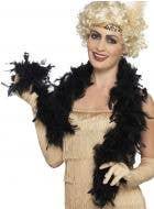 1920's Fluffy Black Feather Boa Costume Accessory