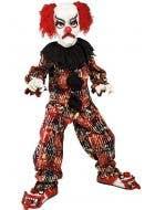 Boy's Creepy Clown Halloween Book Week Costume Front View