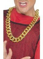 Large Gold Bling Chain Costume Accessory Necklace