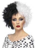 Evil Madame Black And White Halloween Wig