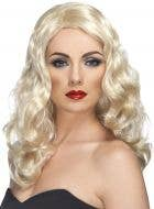 Glamorous Long Blonde Wavy Women's Costume Wig