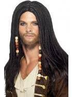 Men's Black Pirate Dreadlocks Costume Wig