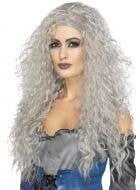 Gothic Bride Women's Zombie Ghost Grey Halloween Wig - Main