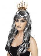 Queen Voodoo Bone Skeleton Hand Crown Headband