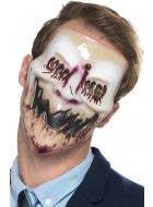 Creepy Blood Smile Psycho Horror Mask Halloween Accessory Main Image