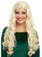 Medieval Dragon Goddess Women's Curly Blonde Costume Wig