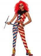 Women's Horror Clown Costume - Main Image