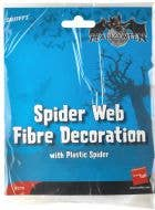 Spider Web and Spider Halloween Decoration - Small