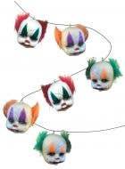 6 Clown Heads Halloween Garland