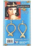 Golden Egyptian Asp Clip-On Costume Earrings