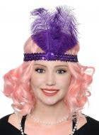 Roaring 20's Women's Purple Flapper Headband Costume Accessory