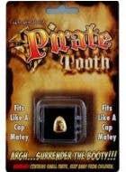 Custom Fit Gold Pirate Tooth Cap Costume Accessory