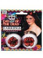 Womens Sexy Senorita Red Rose Day Of The Dead Costume Jewellery