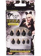 Black Cat Claw Stick on Finger Nails Image 1