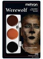 3 Colour Werewolf Halloween Face Paint Makeup Palette