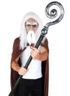 Fantasy Silver Wizard Staff Accessory