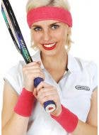 Tennis Player Hot Pink Sweatbands Costume Accessory