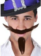 Musketeer Brown Moustache and Goatee Set