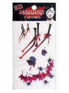 Bloody Nails 3D Halloween Temporary Tattoos
